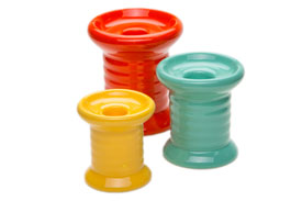 spool candlesticks